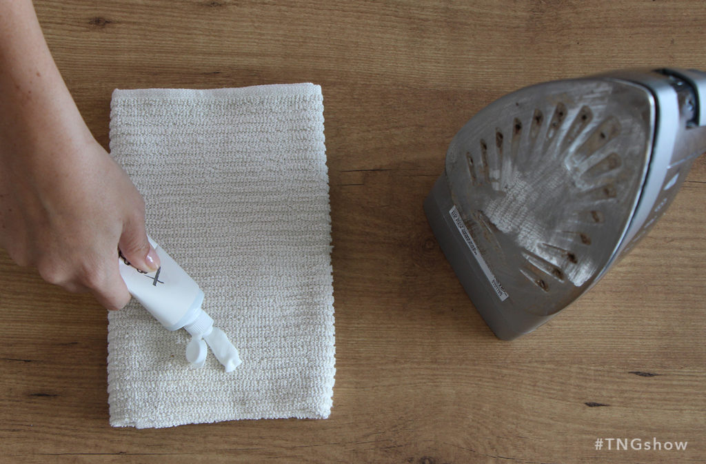 Toothpaste method for cleaning an iron from The Normal Girl Show