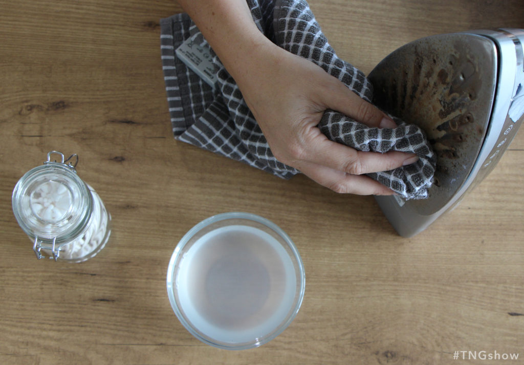 Vinegar Scrub recipe for cleaning an iron from The Normal Girl Show